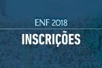 Último prazo de inscrições online para o ENF2018
