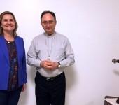 Katia Zavaris faz visita oficial ao presidente da CNBB